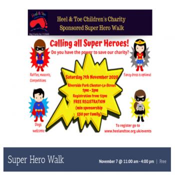 Heel & Toe Super Hero Charity Walk